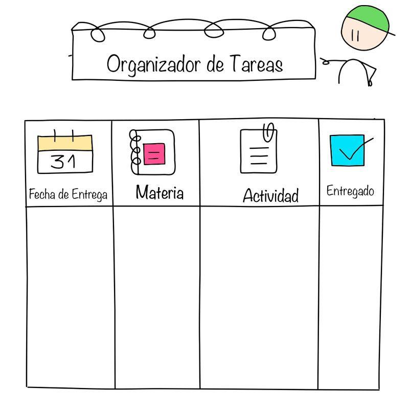 organizador de tareas editable